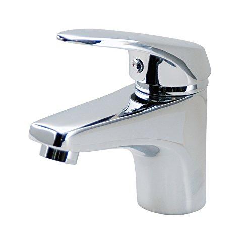 DP Grifería - Grifo de lavabo monomando, color plateado, modelo Sauce