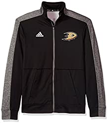 NHL Anaheim Ducks Mens Authentic Full Zip Track Jacketauthentic Full Zip Track Jacket, Black, 4X-Large