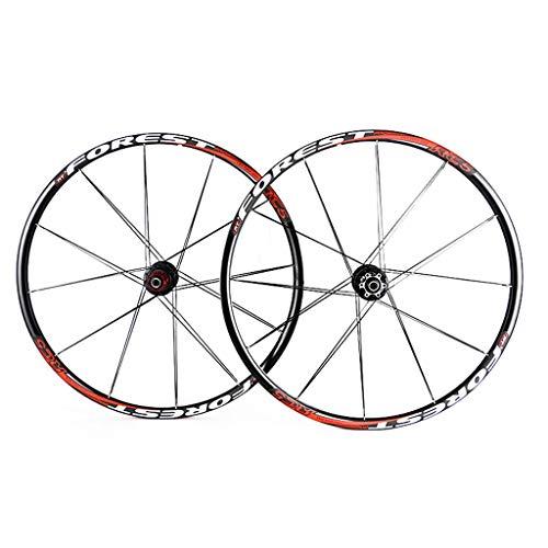LSRRYD 26/27.5 Zoll MTB Fahrradfelgen Aluminiumlegierung 7 Lager Nabe Super Glattes Rad Laufradsatz Felge (Color : B-Red, Size : 27.5inch) -
