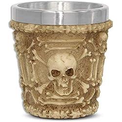 mtb more energy Copa Bebida diabólica - Vaso pequeño (5cl) - Calavera cráneo - Altura 6 cm - Decorazione Horror Medieval Fantástico