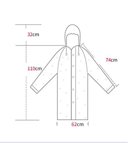 Hommes Et Les Femmes Outdoor Sur Pied Raincoat Adulte Poncho transparent étanche Thickening Tourisme Alpinisme Imperméable Impression Portable Veste imperméable ( couleur : N ° 3 ) N ° 2