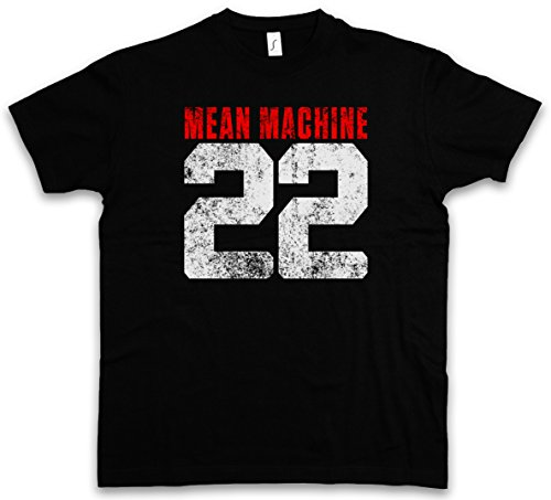MEAN MACHINE 22 T-SHIRT - Quella sporca The Longest Yard ultima meta Movie Martial Arts Fight Taglie S - 5XL