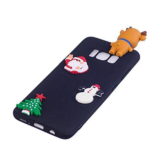 Cover Galaxy S8 Plus (6.2 Pollici) Spiritsun Silicone Moda Ultraslim Soft TPU Case 3D Diy Handy Kawaii Christmas Cover Souple Flessibile Phone Case Per Samsung Galaxy S8 Plus - Santa Clause 4 Santa Clause 3