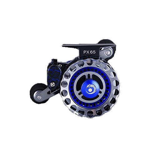 PPOUTDD PX65 Reihe Linie Schneiden Runde Mikro-Blei Fliegenfischen Rad Vorderrad Metall Angelrolle Fanggeräte (Elektrische Angelrollen Daiwa)