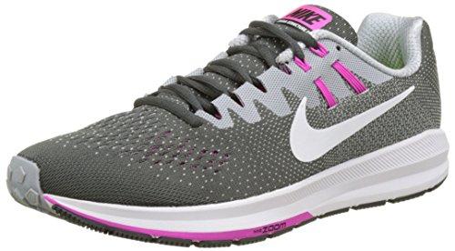 Nike Damen Air Zoom Structure 20 Laufschuhe Mehrfarbig (Antrazit/Rosa/Weiß)