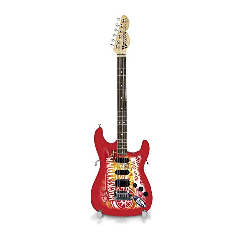 Woodrow Guitar by The Sports Vault NHL Mini Collectible Gitarre, 25,4 cm x 3-1/4-Zoll, rot - Electric Acoustic Epiphone Gitarre