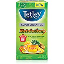 Metabolism Tropical : Tetley Green Tea, Metabolism Tropical, 20-Count (Pack of 6)