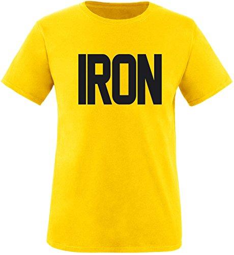 EZYshirt® Iron Herren Rundhals T-Shirt Gelb/Schwarz