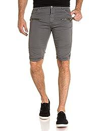 BLZ jeans - Bermuda gris foncé stylé homme