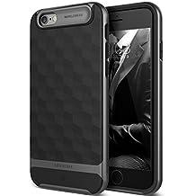 Funda iPhone 6, Caseology [serie Parallax] proteccion delgada de buena calidad con agarre texturizado y diseno geometrico [Negro - Black] para Apple iPhone 6 (2014) & iPhone 6S (2015)