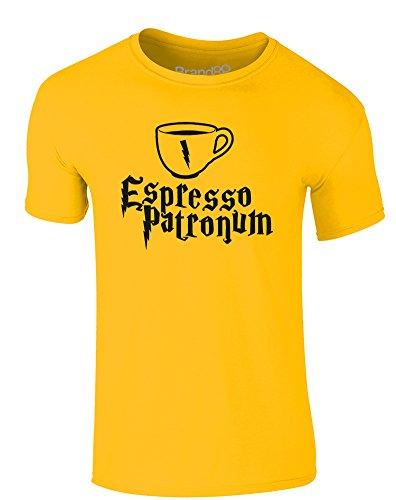 Brand88 - Espresso Patronum, Erwachsene Gedrucktes T-Shirt Gänseblümchen-Gelb/Schwarz