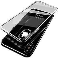 'Carcasa iPhone X (TPU, antiarañazos, Ultra Ligeros Y Fina suave para Apple Iphone X, 5.8Protect Screen silicona (transparente)