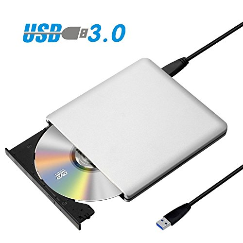 Sopoby ODP95 Super Slim DVD-RW Treiber, Aluminiumlegierung, separates Datenkabel, Silber