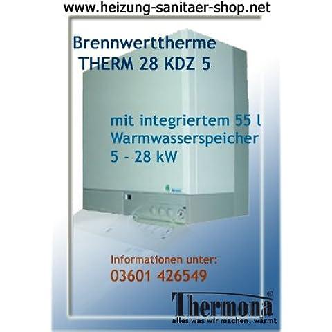 Caldaia a gas a condensazione caldaia a gas caldaia Combi 28 KDZ 5 per gas naturale E con 55 l memoria