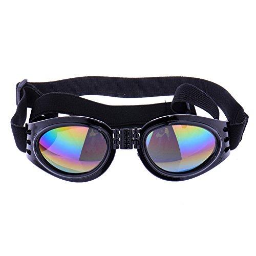 Aprigy - Neue Haustier-Hundeschutzbrille Haustiere Welpen-Katze-UV Sonnenbrille 4 Farbe Hot Fashion Sonnenbrillen Augenschutz Tragen [Schwarz ]