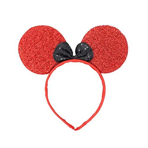 Micky Minnie Maus Ohren, Haarband, Haarband, Kostüm, für Junggesellinnenabschied, Halloween, Kostüm, Mädchen Geburtstag Party
