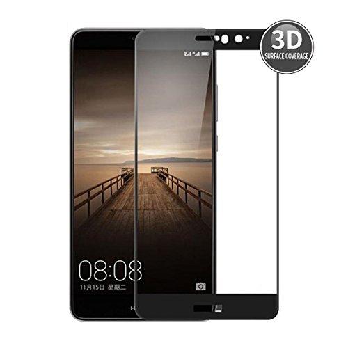 E-Hamii Huawei Mate 9 (Noir) Film Protecteur 3D Incurvé Couverture Complète Protection écran en Verre Tempé 3D Premium 9H Anti-Rayures Protectrice HD Full Screen