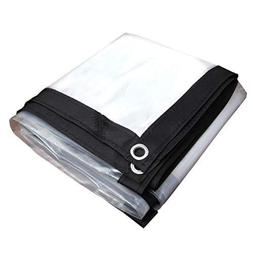 CHAOXIANG Lona De Protección Aislamiento Impermeable Parasol Tela De Plastico Resistente Al Desgarro Antiedad Fácil De Plegar PE Personalizable (Color : Claro, Tamaño : 3X8m)