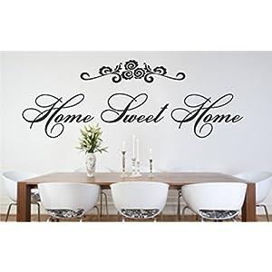 Wandtattoo Aufkleber Schriftzug Wohnzimmer Küche modern Home Sweet Home Nr.850