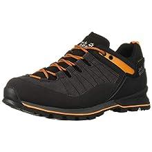 Jack Wolfskin Men's Scrambler Xt Texapore Low M Wasserdicht Rise Hiking Shoes, Black (Phantom/Orange 6358), 6.5 UK