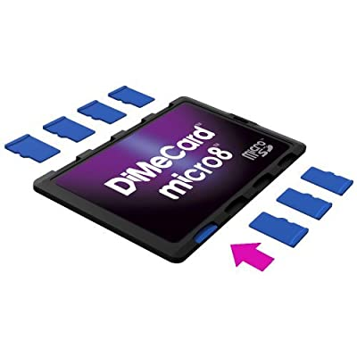 DiMeCard micro8 microSD Memory Card Holder (Ultra thin credit card size holder, writable label) by DiMedium