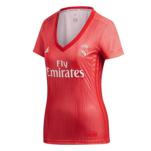 buy online c756a 1453e adidas Real Madrid fútbol Third – Camiseta de Mujer, Mujer, Color Real  Coral/Vivid Red, tamaño FR : L (Taille Fabricant : L)