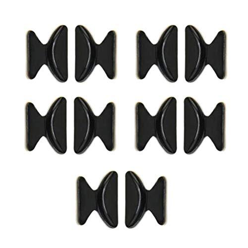 10 Stück Schwarze Nasenpads Rutschfeste Silikon Nasenpads für Brille Kleben auf Nasenpolster 2,5mm