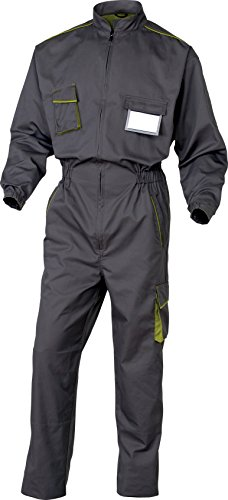 Panoply M6 Panostyle salopette da lavoro Boilersuit Coveralls con tasche porta ginocchiere Grey With Green Trim M