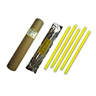 Cyalume Tube de 5 Bâtons Lumineux SnapLight Non-IMPACT 40cm Jaune 1 Anneau 12 Heures 15'' Emballés Individuellement