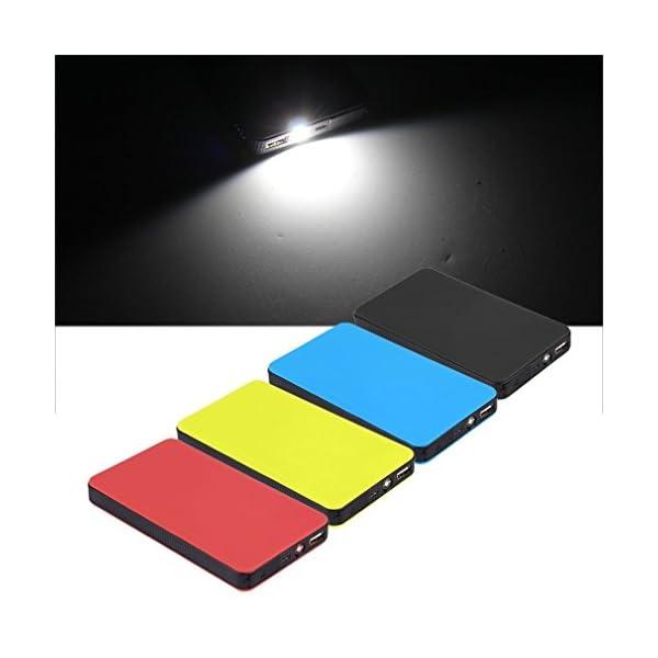 Logicstring – Cargador externo de baterías de coche, con linterna LED, cargador USB y abrazaderas, batería de 12V, 20000 mAh, multifuncional