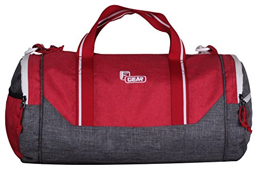 F Gear America 24 Liters Small Gym Duffel Bag (Grey, Red)  available at amazon for Rs.699