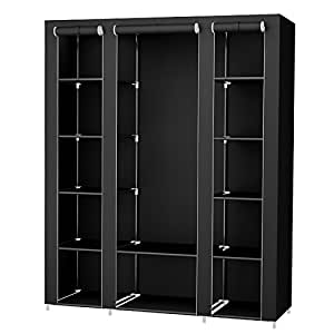songmics xxl 175 x 150 x 45 cm stoffschrank. Black Bedroom Furniture Sets. Home Design Ideas
