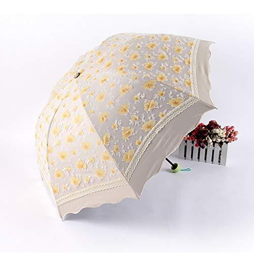 WZJ-Regenschirm Pflaume Spitze Doppelschicht Vinyl Sonnenschirm, 8k Anti-UV Windproof Regenschirm (Color : B) (Regenschirm Pflaume)