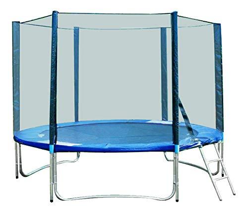 Franchinishop trampolino elastico 250cm (8ft) con rete e scala con certificato tuv/gs *trampolinobimbi*