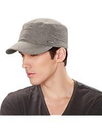 Kenmont Printemps Hommes 100% coton Visière militaire Hat