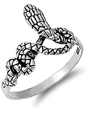 Ring aus Sterlingsilber - Schlange