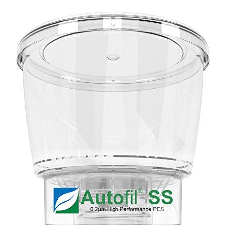 autofil Super Speed steril Einweg Vakuum Flasche Top Filter mit 0.2um FOXX Velocity Sterilisieren PES Membran, 500ml, 12/CS (Flaschen Sterile)
