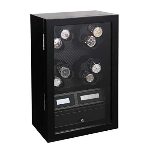 GUOOK 8 + 5 Holz Acht-Gang-Verstellung Unisex-Uhrenbeweger, Automatik drehen Wicklung elektrische Uhrenbeweger Box rotierenden Pendelvorrichtung (Farbe: C)