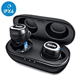 True Wireless Earbuds, [2019 upgrade] BesDio Bluetooth 5.0 Earphones with Ear Hook: Deep
