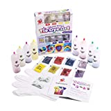 TBC The Best Crafts 8 Colours Tie Dye Kit. 65 Pieces Super Value Pack, With Bonus Tie Dye Powder Refiils Packs