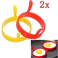 Kitchen Silicone Fried Egg Device Round Ring Cook Mould Modelling(2 PCS)