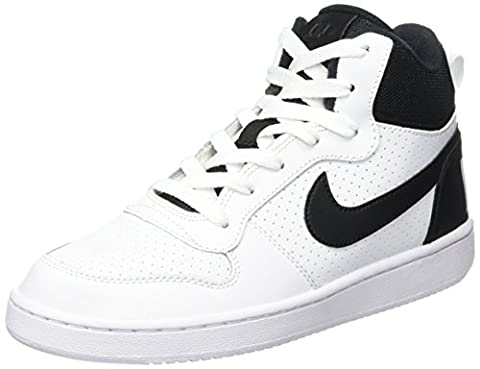 Nike Court Borough Mid (GS), Baskets Mixte Enfant, Blanc (White/Black),