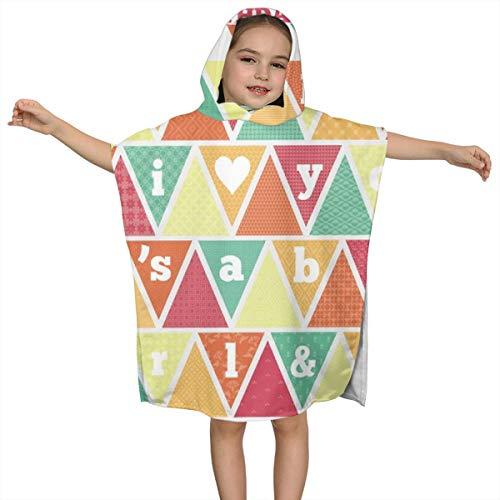 BigHappyShop Baby's Cute Hooded Bath Beach Towel Bunting Kit Birthdays Babies Love Ultra Soft Quick Drying Super Soft Single Ply 100% Organic Cotton -