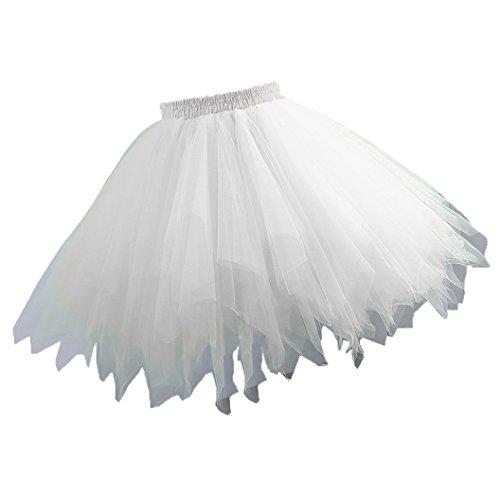 age kurze Petticoat Rock Ballett Bubble Tutu mehrfarbige Pettiskirt Größe S /M Weiß (Tutu Frauen)