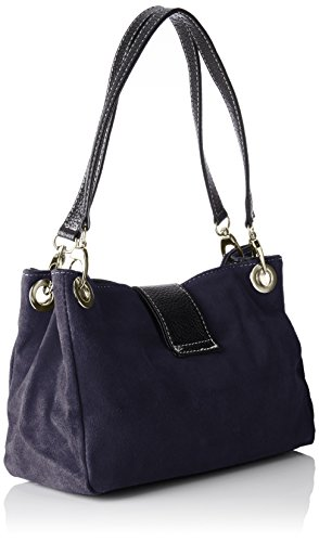 Chicca Borse Damen 10027 Shopper, 26.5 x 18 x 12 cm Blau (Blu)
