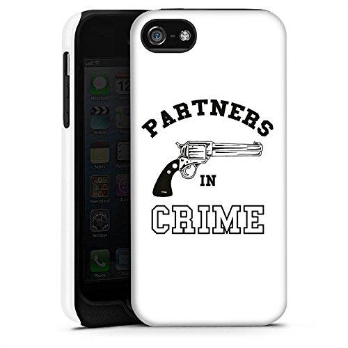 Apple iPhone X Silikon Hülle Case Schutzhülle Pistole Crime Freundschaft Tough Case matt