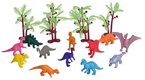 Wild Republic- Juego de Caza Dinosaurio, Pequeño, Cubo Aventura Mini, 10 cm, 18-Piezas, (23151)