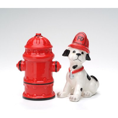 Fire Fighter Salt and Pepper Set by Cosmos Gifts Fire Salt Shaker