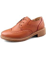 Primavera zapatos de Inglaterra/ talón de buluokeping/zapatos casuales/ zapatos de damas/fondo plano