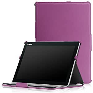 MoKo ASUS Zenpad 10 Z300C Case - Slim-Fit Multi-angle Folio Cover Case for ASUS Zenpad Z300C 10.1 inch Tablet, PURPLE